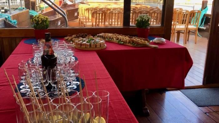 Mesa dos aperitivos
