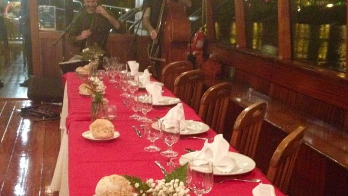 Dinner on board with live music