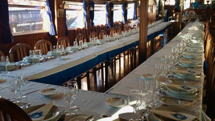 Birthday dinner on board
