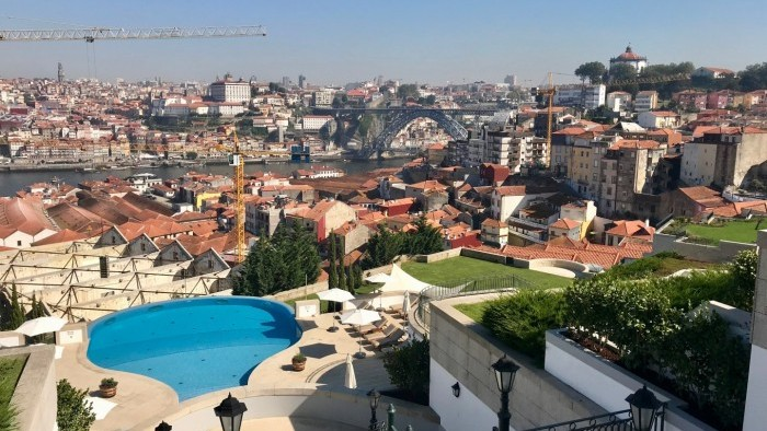 Panoramic view to Porto City